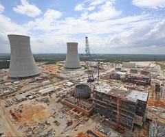 Construction on Vogtle units 3 and 4, april 2017