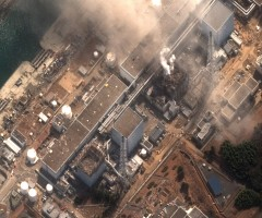 Fukushima power plant after explosions, March 2011